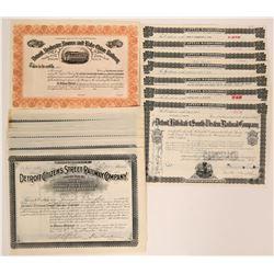 Detroit Railroad Company Stock Certificates  (117502)