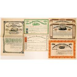 Five Stock Certificates & Bonds Flint Pere Marquette Railroad Co.  (117367)