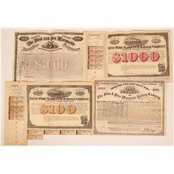 Flint, Pere Marquette Railroad Bonds (4)  (111684)
