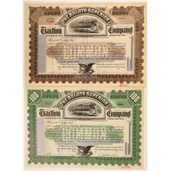 Duluth-Superior Traction Company Specimen Stocks (2)  (111651)