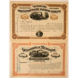 Louisiana and Mississippi Railroad Stocks (114687)