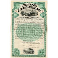 Cleveland, St. Louis & Kansas City Railway Co Bond, 1888  (111214)