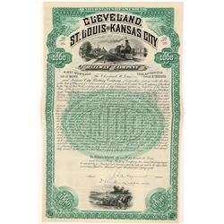 Cleveland, St. Louis & Kansas City Railway Co Bond, 1888  (111214)