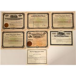 Montana Railroad Stock Certificate Collection  (107452)