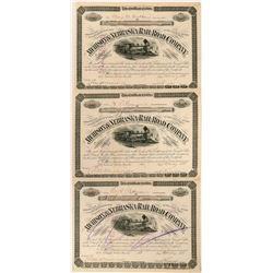 Atchison & Nebraska RR Stock Certificates  (117226)