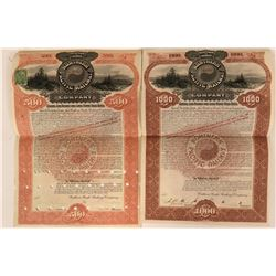 Northern Pacific Railway $500 and $1000 Gold Bonds  (117193)