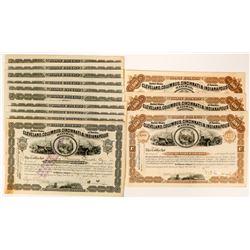 14 Cleveland, Columbus, Cincinnati & Indianapolis Railway Stock Certificates  (117498)