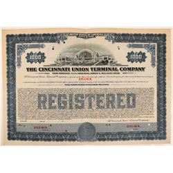 Cincinnati Union Terminal Co Bond Specimen, Blue, Series A, $1,000- Rare  (111171)