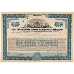 Cincinnati Union Terminal Co Bond Specimen, Blue, Series C, $5,000  (111186)