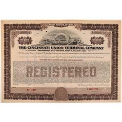 Cincinnati Union Terminal Co Specimen Bond, Series C, Purple, $25,000- Rare  (111175)