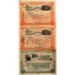 City Railway Company, Dayton, Ohio Stock Group (3)  (111248)