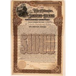 Columbus, Sandusky & Hocking Railroad Co Bond, 1895  (111210)