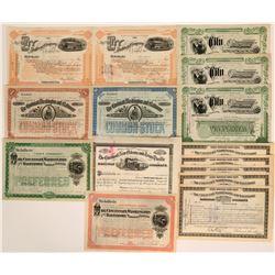 Various Ohio Railroad stocks  (117544)