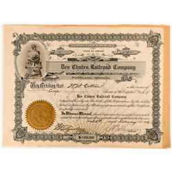 Founders Share Stock Certificate Des Chutes Railroad Company  (117370)