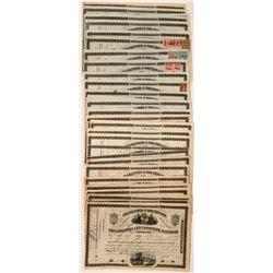 38 Philadelphia City Passenger Railroad Company Stock Certificates  (117500)