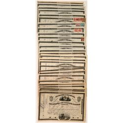 38 Philadelphia City Passenger Railroad Company Stock Certificates  (117500)