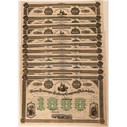 Eleven Union Passenger Railway Company Bonds  (117385)