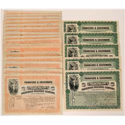 Philadelphia City Passenger Railroad Company Stock Certificates  (117505)