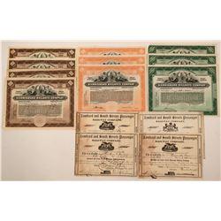Pennsylvania RR Stocks from 4 Companies  (115914)