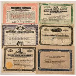 Various Pennsylvania RR stocks  (112263)