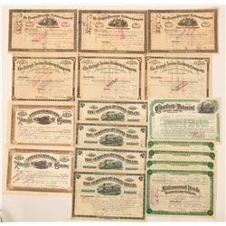 Pennsylvania and New Jersey RR stocks  (115906)