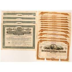 16 Cincinnati, New Orleans and Texas Pacific Railway Company Stock Certificates  (117499)