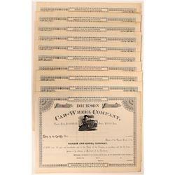 Dickson Car-Wheel Co. Stock Certs  (117492)