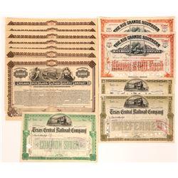Texas Railroad Stock Certificates  (117231)