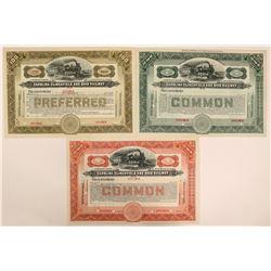 Carolina, Clinchfield & Ohio Railway Stock Specimens- 3 Different Colors  (111652)