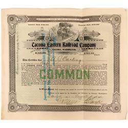 Tacoma Eastern Railroad Company Stock Certificate  (117190)