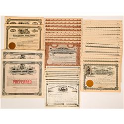 Fifty One Unissued Washington State Railroad Stock Certificates  (117369)