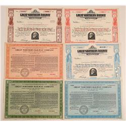 Great Northern Railway Stock Certificates & Bonds  (106692)