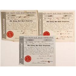 Old Colony RailRoad Corporation Stock Certificates  (80663)