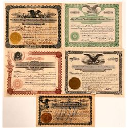 Nice Group of Southern Railroad Certificates  (111031)