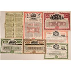 St. Louis-San Francisco Railway Co. Stocks & Bonds (7)  (106693)