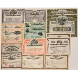 Collection of Various Railroad stocks.  (117531)