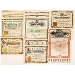 Fifteen Northwestern Railroad Stock Certificates and Bonds  (117368)