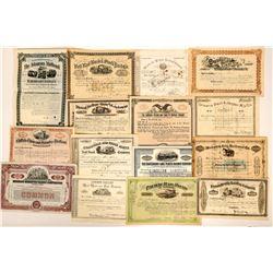 Railroad Stock Certificates, Bond, 15 Different  (117363)