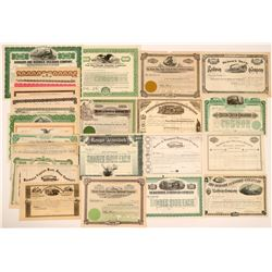 Large Group of Unissued Railroad Stocks, All Geographies (27)  (111668)