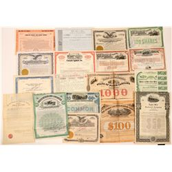 Large Group of Various Eastern Railroad Stocks & Bonds (18)  (111683)
