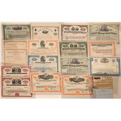 Transportation Railroad Stock Certificates (18)  (118852)