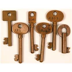 Railroad and Car Lock Keys  (117323)
