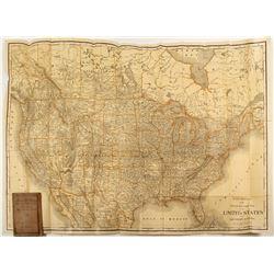 Rand McNally US and Southern Canada Railroad Map  (59732)