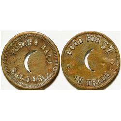 Turner Hall Saloon Token  (84348)