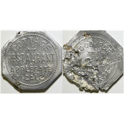 Applegate, CA: Cottage Restaurant Token  (89000)