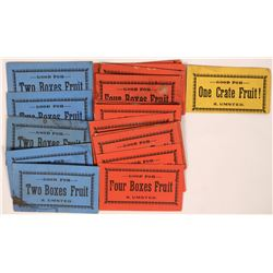 A. Umsted Crate of Fruit Paper Tokens  (119094)