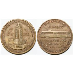 Pictorial LA Transportation Token  (118109)
