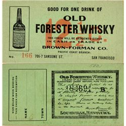 Old Forester Whisky Good For Paper Token  (119744)