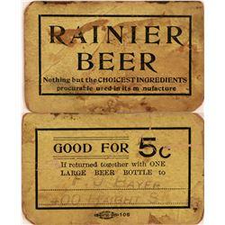 Rainier Beer Good For Token  (119745)