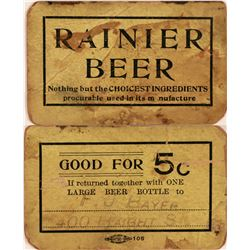 Rainier Beer Good For Token  (119745)